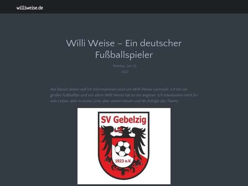 Screenshot von http://www.williweise.de